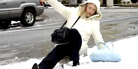 Im Winter häufig Knochenbrüche