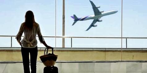 Blick auf ein Flugzeug
