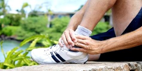 Ein Bänderriss ist eine typische Sportverletzung