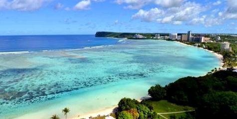 Strand auf Guam