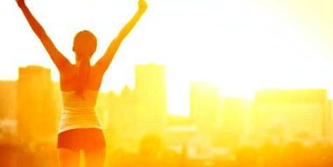 Licht und Sonne tanken für neue Glückshormone