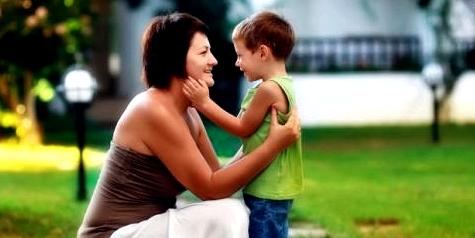Junge und seine Knochenmarkspenderin