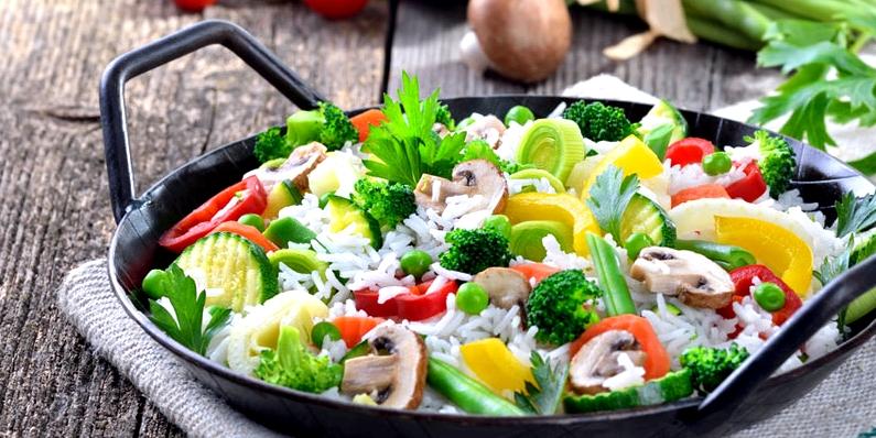 Reis-Gemüse-Pfanne