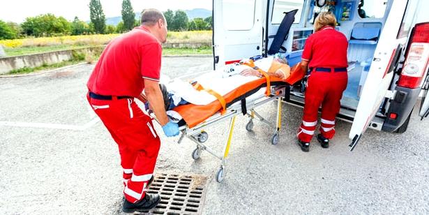 Rettungstransport bei Schock