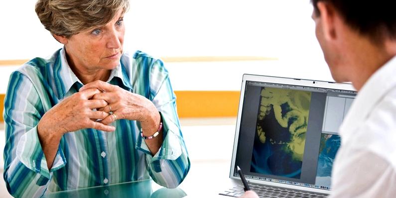 Eine Laktoseintoleranz-Ursache kann durch eine Krankheit des Darms entstehen
