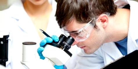 Untersuchung von Blutzellen bei Leukämie