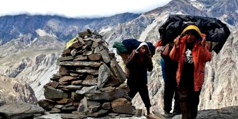 Sherpas leben im Himalaya