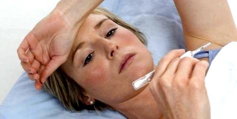 Frau mit Lungenentzündung nach Masern