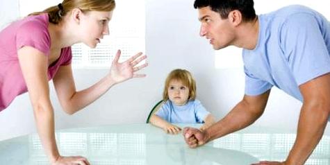 Schock durch Elternstreit