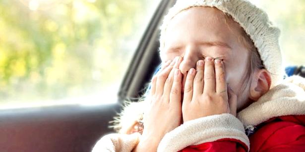 Von Reiseübelkeit im Auto, sind häufig Kinder betroffen