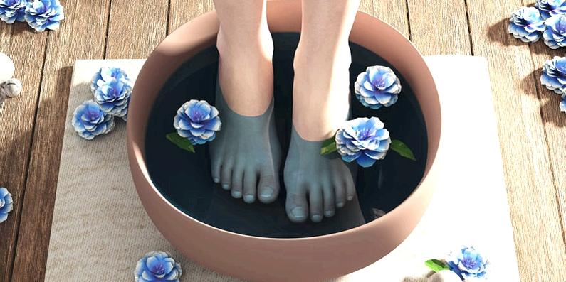 Ein warmes Fußbad entspannt