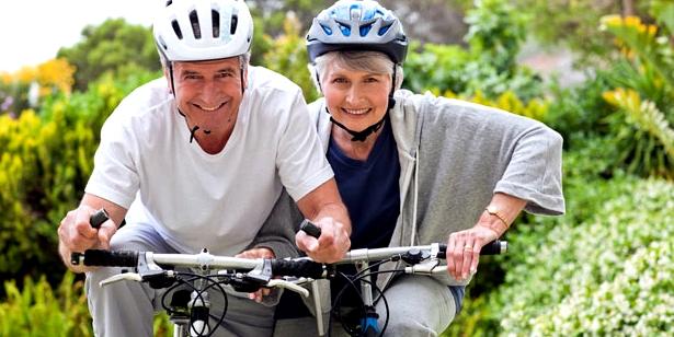 Radfahren schützt vor Altersherz