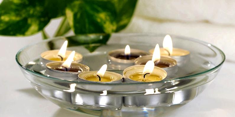Flohfalle Kerzenwasser