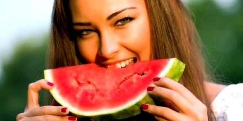 Bei Hitze erfrischt Melone