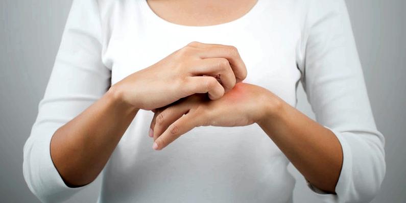 Schwitzende Hände
